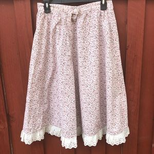 Women's vintage floral skirt small ooak